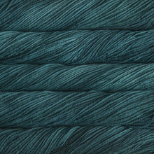 Load image into Gallery viewer, Skein of Malabrigo Rios Worsted weight yarn in the color Teal Feather (Blue) for knitting and crocheting.