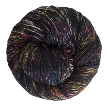 Load image into Gallery viewer, Skein of Malabrigo Sock Sock weight yarn in the color Mask (Black) for knitting and crocheting.