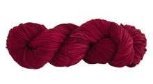 Load image into Gallery viewer, Skein of Manos del Uruguay Alegria Grande Worsted weight yarn in the color Carmine (Red) for knitting and crocheting.