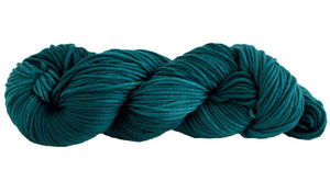 Skein of Manos del Uruguay Alegria Grande Worsted weight yarn in the color Teal (Green) for knitting and crocheting.