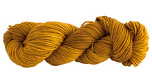 Load image into Gallery viewer, Skein of Manos del Uruguay Alegria Grande Worsted weight yarn in the color Turmeric (Yellow) for knitting and crocheting.