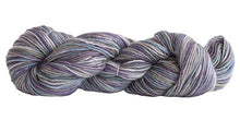 Load image into Gallery viewer, Skein of Manos del Uruguay Silk Blend Space-Dyed DK weight yarn in the color Abalone (Gray) for knitting and crocheting.