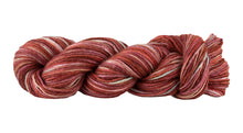 Load image into Gallery viewer, Skein of Manos del Uruguay Silk Blend Space-Dyed DK weight yarn in the color Killim (Red) for knitting and crocheting.