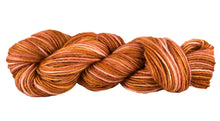 Load image into Gallery viewer, Skein of Manos del Uruguay Silk Blend Space-Dyed DK weight yarn in the color Terra Cotta (Orange) for knitting and crocheting.