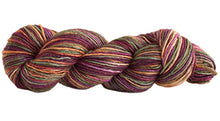 Load image into Gallery viewer, Skein of Manos del Uruguay Silk Blend Space-Dyed DK weight yarn in the color Woodland (Brown) for knitting and crocheting.