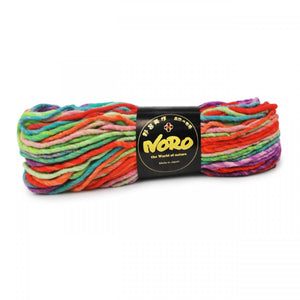 Skein of Noro Kureyon Air Super Bulky weight yarn in the color Kamisu (Multi) for knitting and crocheting.