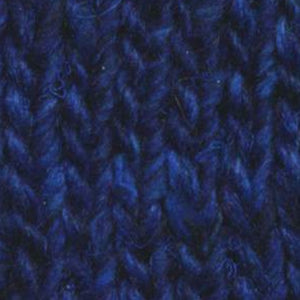 Skein of Noro Silk Garden Solo Worsted weight yarn in the color Fushinu (Blue) for knitting and crocheting.