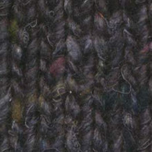 Load image into Gallery viewer, Skein of Noro Silk Garden Solo Worsted weight yarn in the color Hanabatake (Black) for knitting and crocheting.