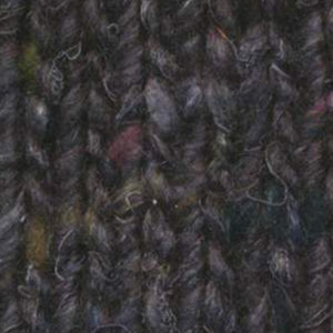 Skein of Noro Silk Garden Solo Worsted weight yarn in the color Hanabatake (Black) for knitting and crocheting.