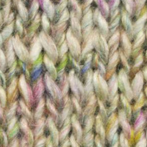 Skein of Noro Silk Garden Solo Worsted weight yarn in the color Omitama (White) for knitting and crocheting.