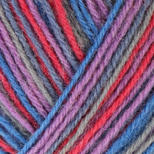 Load image into Gallery viewer, Skein of Regia 4-Ply Kaffe Fassett Design Line Color Sock weight yarn in the color Storm (Multi) for knitting and crocheting.