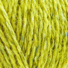 Load image into Gallery viewer, Skein of Rowan Felted Tweed DK DK weight yarn in the color Sulfur (Yellow) for knitting and crocheting.