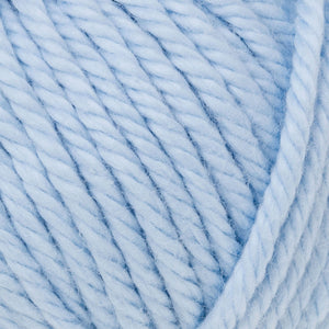 Skein of Rowan Handknit Cotton DK weight yarn in the color Cloud (Blue) for knitting and crocheting.