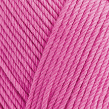 Load image into Gallery viewer, Skein of Rowan Handknit Cotton DK weight yarn in the color Flamingo (Pink) for knitting and crocheting.
