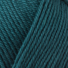 Load image into Gallery viewer, Skein of Rowan Handknit Cotton DK weight yarn in the color North Sea (Blue) for knitting and crocheting.