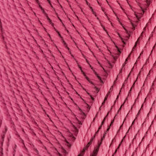 Load image into Gallery viewer, Skein of Rowan Handknit Cotton DK weight yarn in the color Raspberry (Pink) for knitting and crocheting.