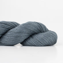 Load image into Gallery viewer, Skein of Shibui Lunar Lace weight yarn in the color Graphite (Gray) for knitting and crocheting.