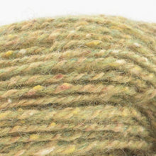 Load image into Gallery viewer, Skein of Shibui Pebble Lace weight yarn in the color Pollen (Green) for knitting and crocheting.