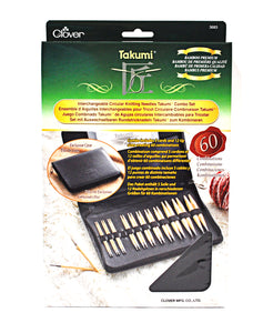 Takumi Combo Interchangeable Circular Knitting Needle Set in packaging