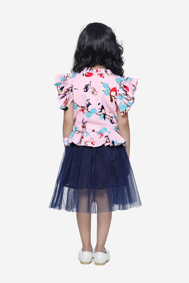 Quirky Print tulle Dress