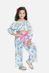 Lilipicks Sky Blue Striped Pant Coordinated Set