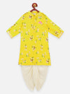 Lilpicks Yellow colour Dhoti kurta set