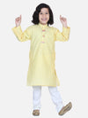 Lilpicks Lemon Yellow Chikankari Kurta Pyjama Set