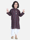 Lilpicks Brown Digital Print Dhoti Kurta Set