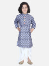 Lilpicks Grey Digital Print Dhoti Kurta Set