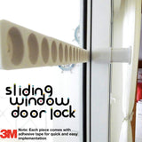 Sliding Door Lock Child Door Locks for Sliding Glass Doors Baby Safety  Childproof Patio Windows Stopper Set of 2 Pack (White)