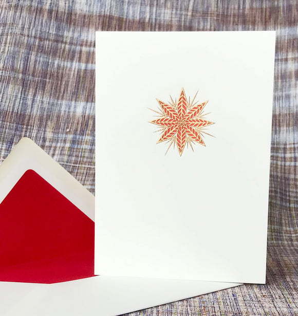 Red Star Note Card