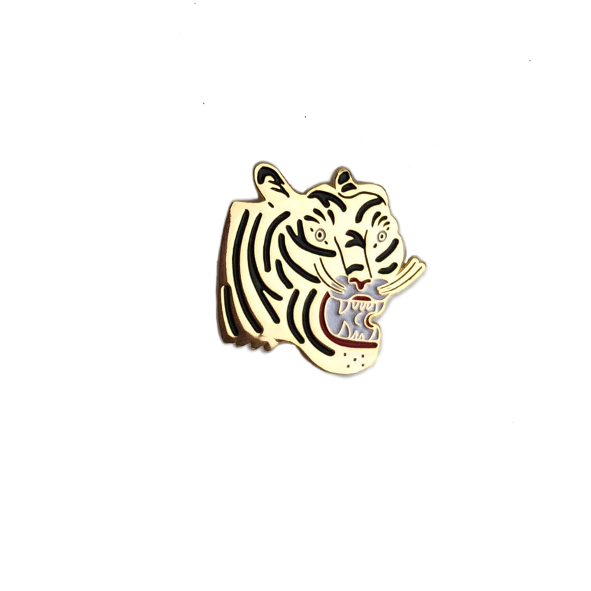Tiger Head Lapel Pin