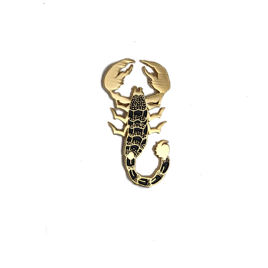 Black Scorpion Lapel Pin