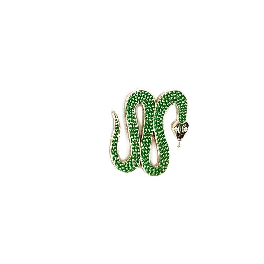 Green Snake Lapel Pin