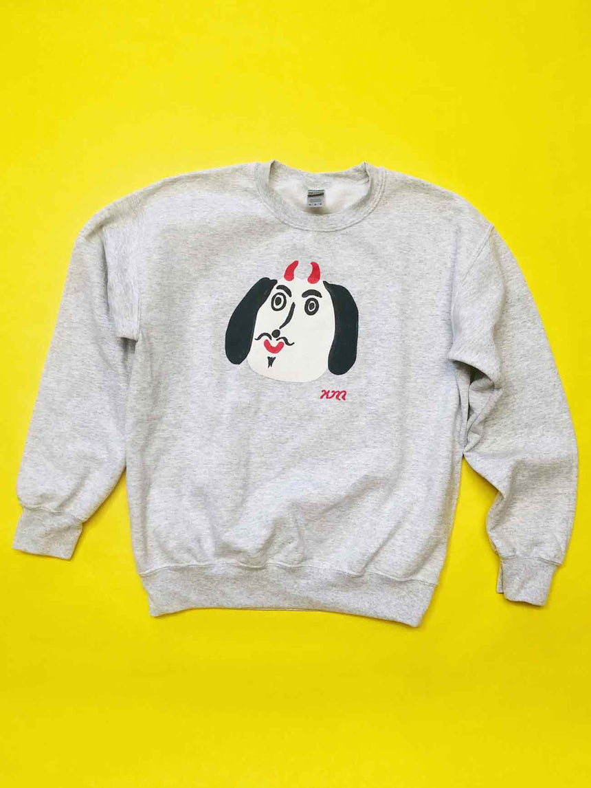 Hand Painted Devil Dog Sweatshirt
