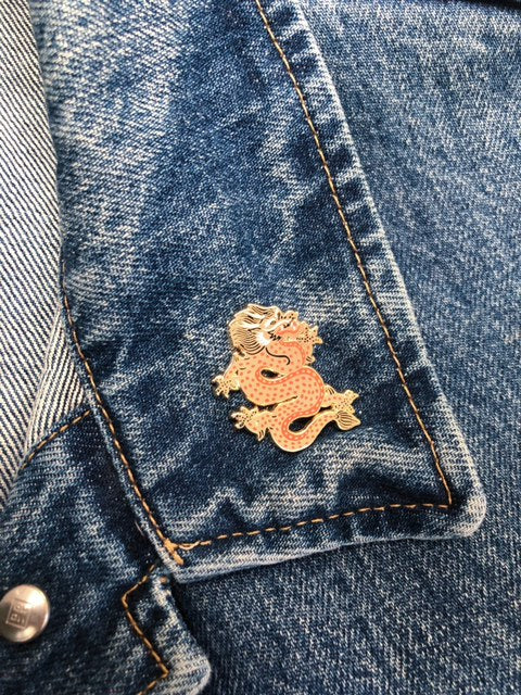 Year of the Dragon Lapel Pin