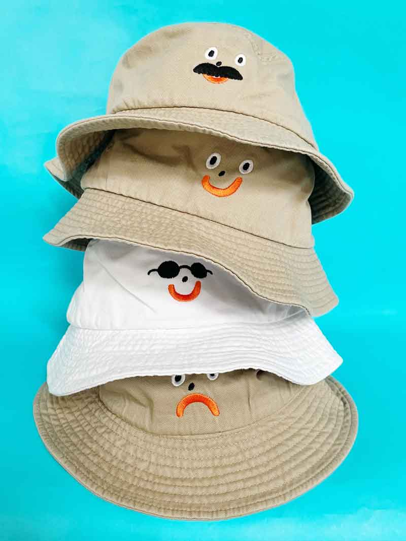 Happy Bucket Hat - Stone