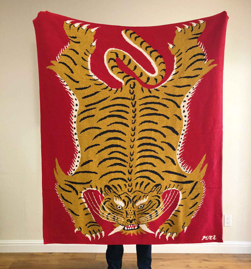 Red Tiger Blanket