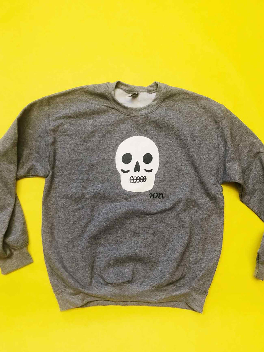 Hand Painted Skull Sweatshirt