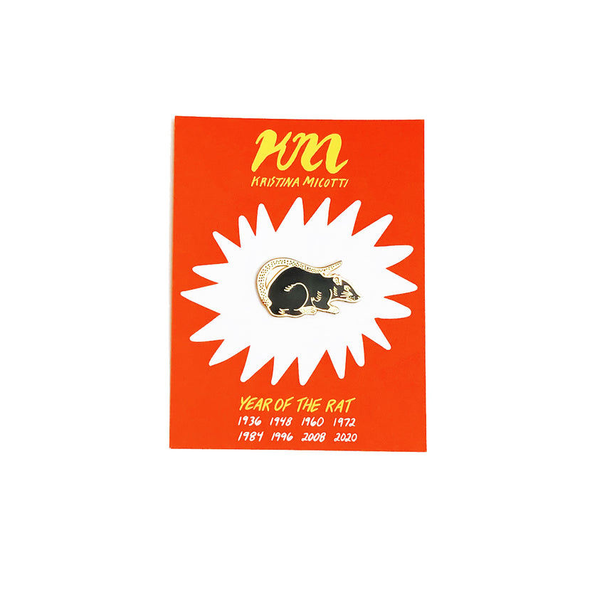 Year of the Rat Lapel Pin