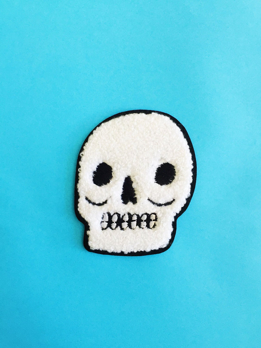 Chenille Skull Patch