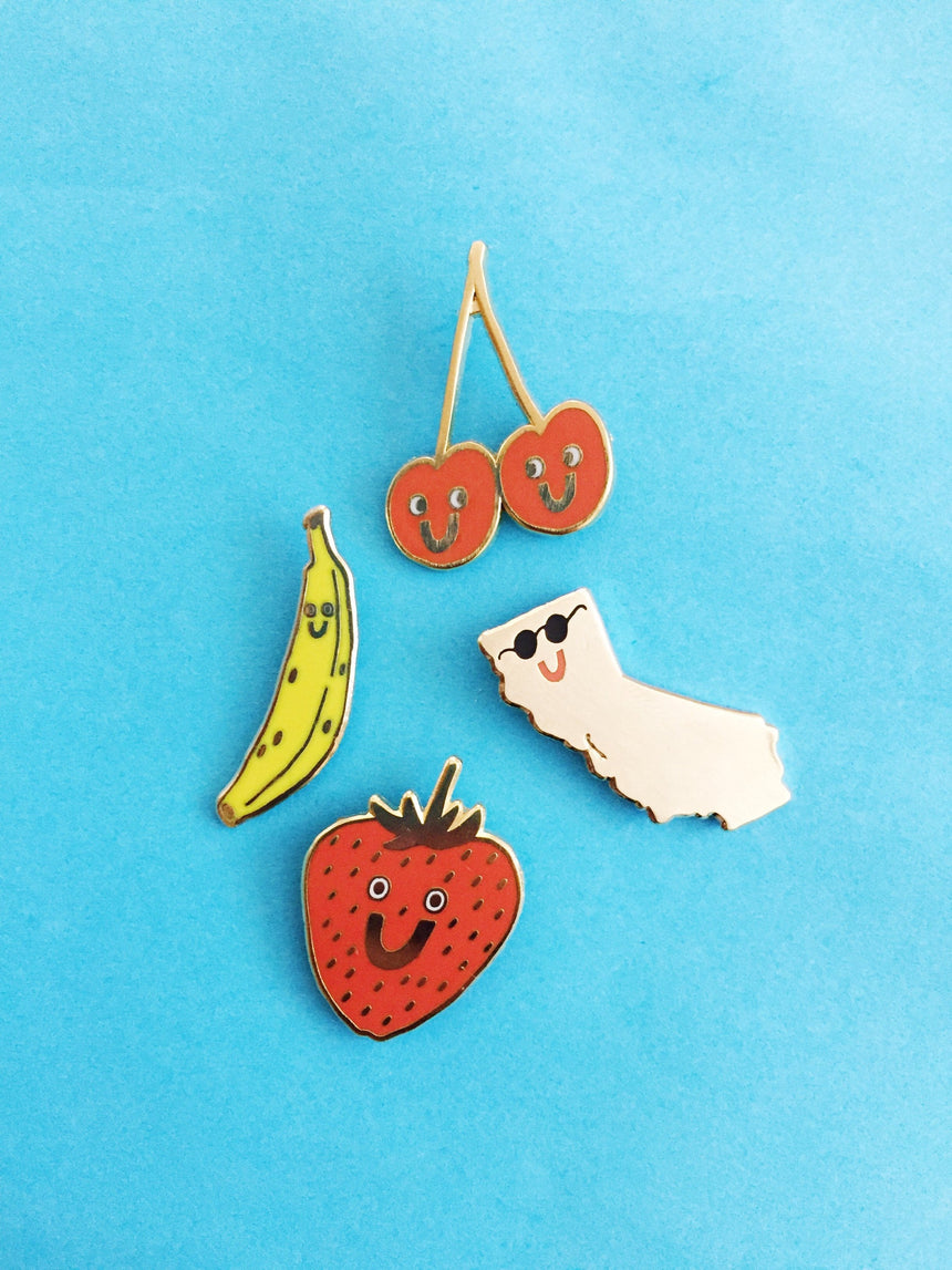 Strawberry Lapel Pin