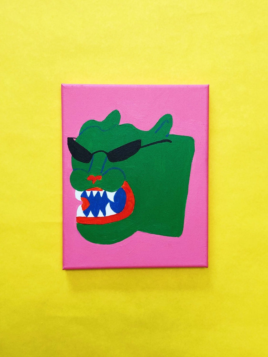 Cool Green Panther Painting