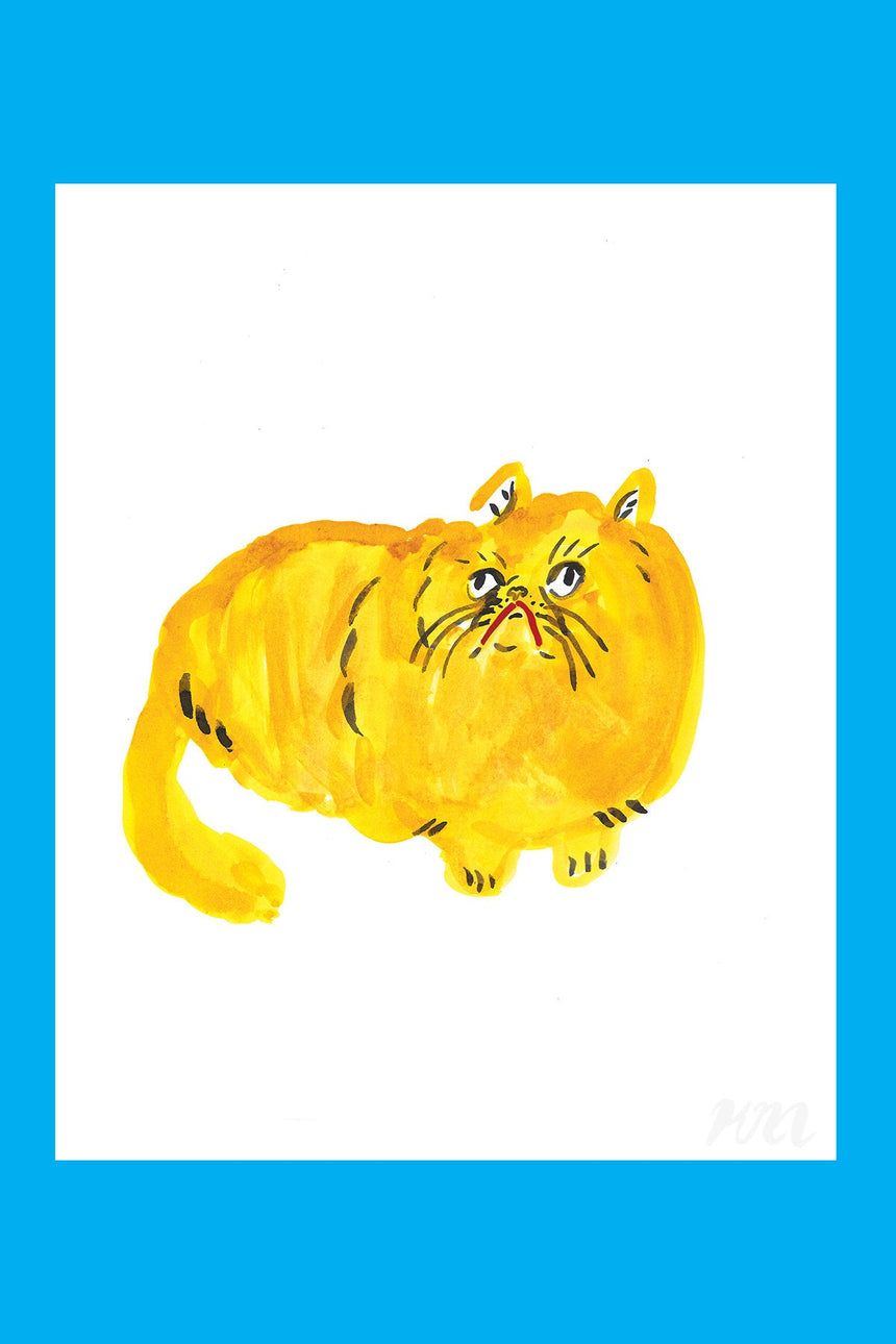 Yellow Cat Print