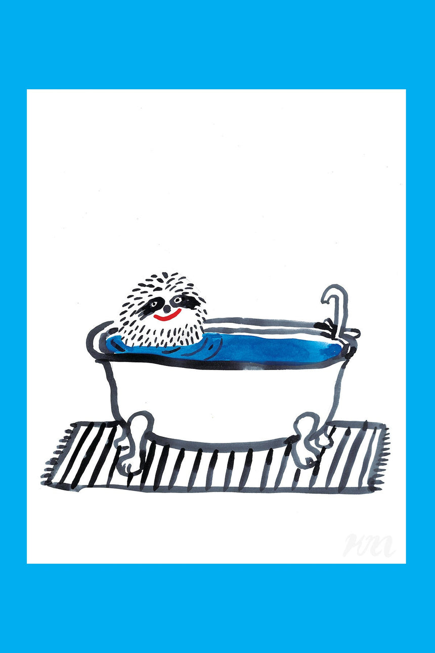 Bathtub Sloth Print