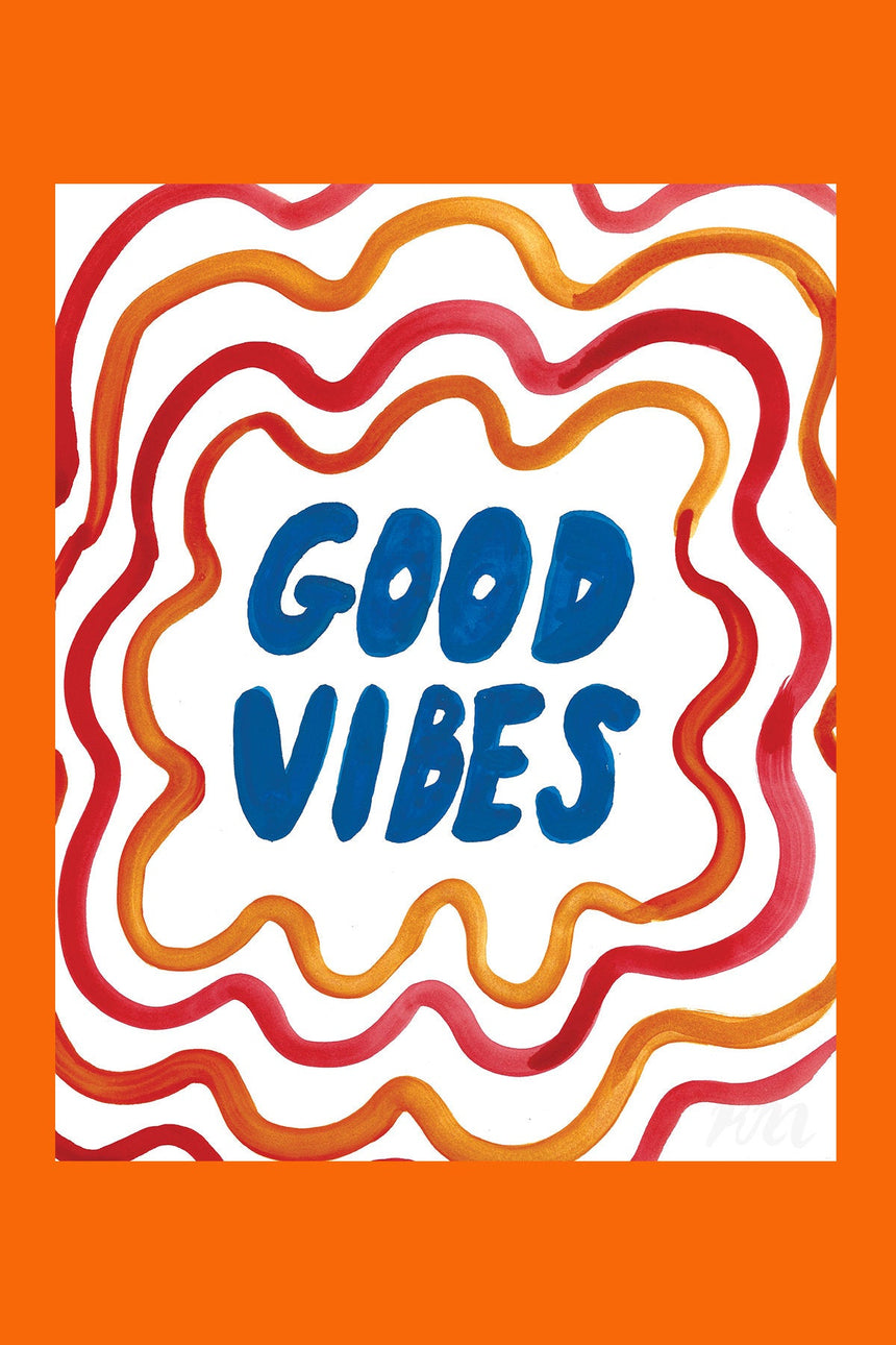 Good Vibes Text Print