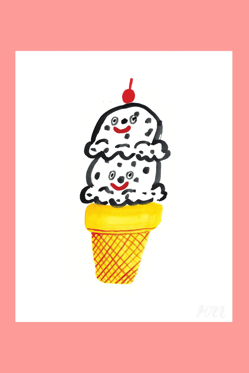 Ice Cream Happy Food Print