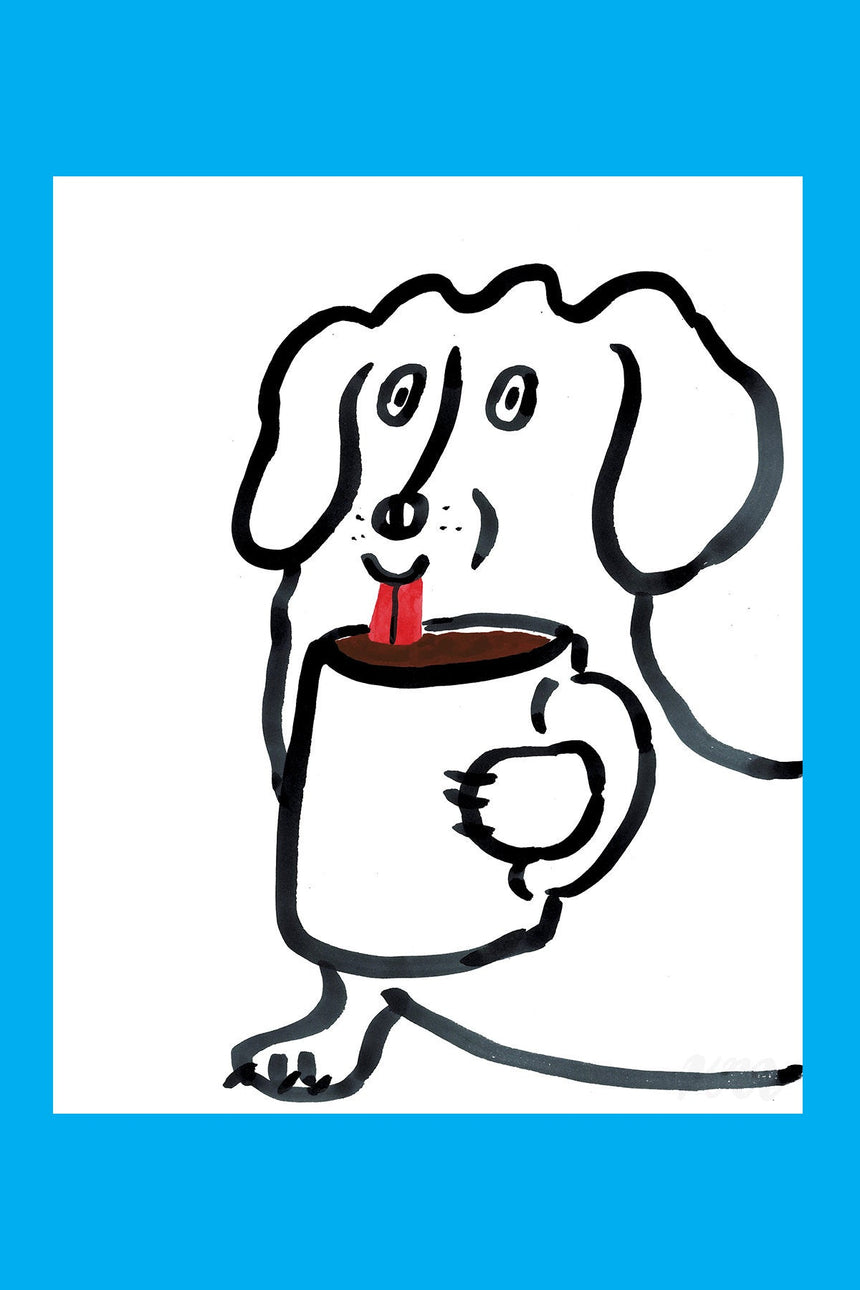 Coffee Dog Print