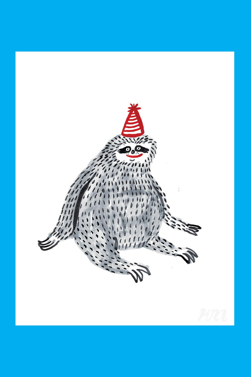 Party Sloth Print