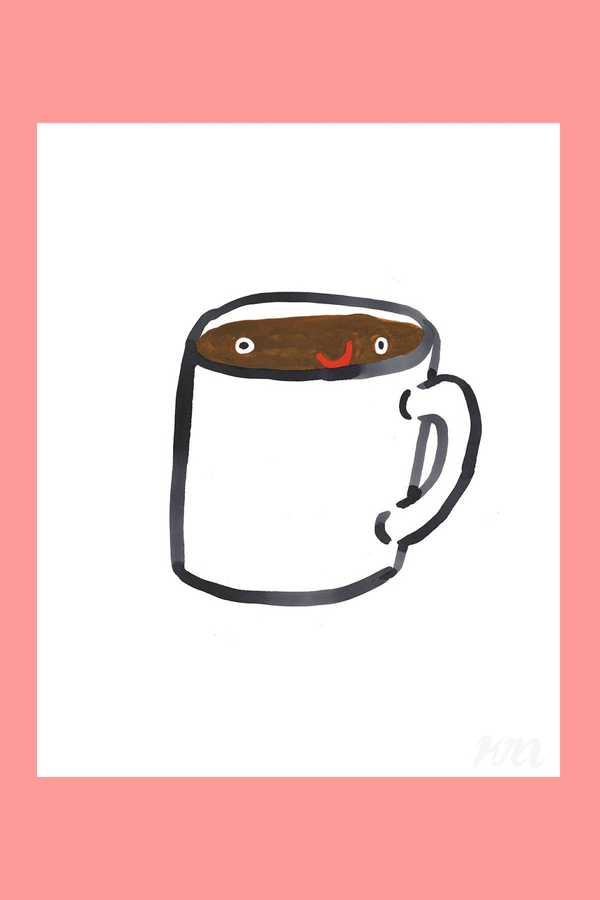 Coffee Happy Food Print